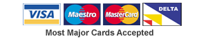 most major credit cards accepted